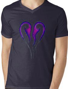 Kingdom Hearts Leaking Pink Logo Mens V-Neck T-Shirt
