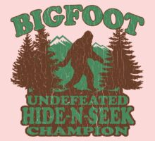 Bigfoot Hide N Seek Champion (vintage distressed) One Piece - Short Sleeve