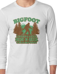 Bigfoot Hide N Seek Champion (vintage distressed) Long Sleeve T-Shirt
