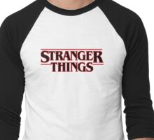 Stranger Things Classic Title :  On White Men's Baseball ¾ T-Shirt