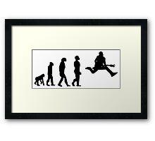 EVOLUTION GUITAR Framed Print