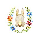 Bunny Hops is one of the Forest Friends nursery art set by Sandra O'Connor