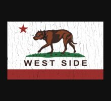 California Pit Bull West Side Flag  Baby Tee