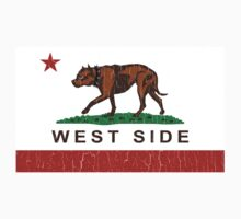 California Pit Bull West Side Flag  by robotface