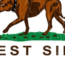 California Pit Bull West Side Flag  Sticker