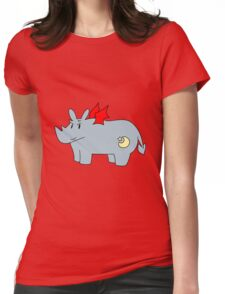 Red Devil Rhino Womens Fitted T-Shirt