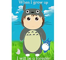 When I grow up, I will be a forester (boy) Photographic Print