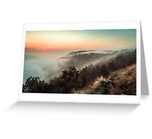 Foggy autumn evening in Val Rosandra Greeting Card