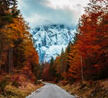trekking path in an autumn day in the alps Sticker