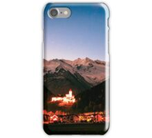 Campo Tures castle with white mountains behind iPhone Case/Skin