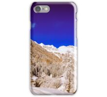 Sunny day in the alps after the snowfall iPhone Case/Skin