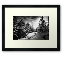 Sunny day in the alps after the snowfall Framed Print
