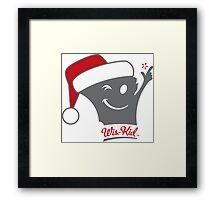 Santa Wis-Kid Sticker Framed Print