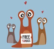 Free slugs Kids Tee