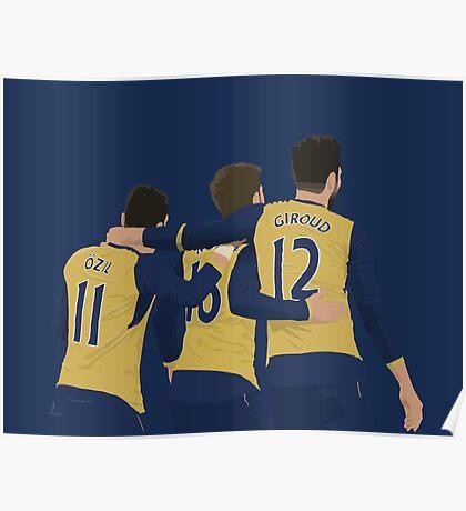 Özil Ramsey Giroud Poster