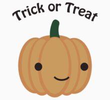 Trick or Treat - Cute Pumpkin Kids Tee