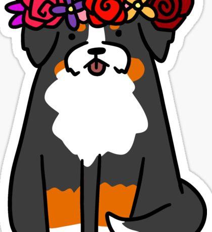 Flower Crown Bernie Sticker