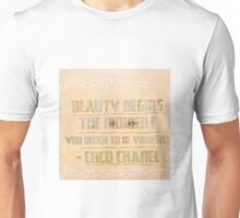 Chanel quote fashion and motivation quote Unisex T-Shirt