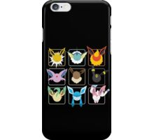 Eeveelutions Grid iPhone Case/Skin