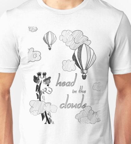 Giraffe in the Clouds  Unisex T-Shirt