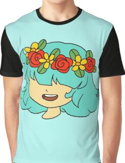 Flower Crown Girl Graphic T-Shirt