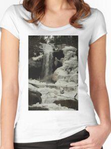 Frozen waterfall Women's Fitted Scoop T-Shirt