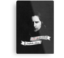 Return your Library Books or Else.... Metal Print