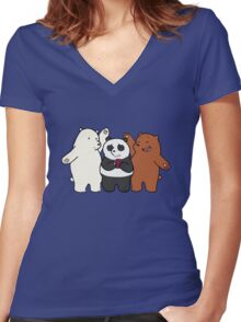 bear brothers Women's Fitted V-Neck T-Shirt