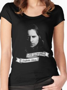 Return your Library Books or Else.... Women's Fitted Scoop T-Shirt