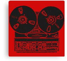Reel-to-reel red fabulous design! Canvas Print