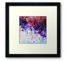 Blue and White Abstract Painting Framed Print