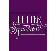 Letter Sparrow Logo Photographic Print