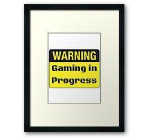 Gaming in Progress Framed Print