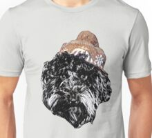 Cockapoo in a Winter Hat (Grey) Unisex T-Shirt