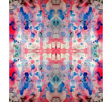 Red and Blue ink pattern Photographic Print