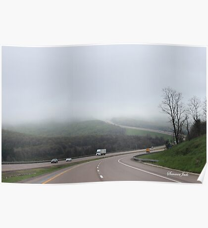 Driving into the Fog Poster