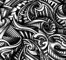 Gray Swirls Abstract Shaded Depth Zen Doodle Sticker
