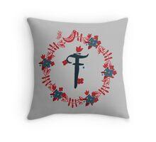 Scandinavian Monogram F Throw Pillow