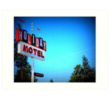 Retro Motel...In Bend, Oregon Art Print