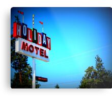 Retro Motel...In Bend, Oregon Metal Print