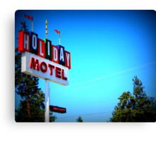 Retro Motel...In Bend, Oregon Canvas Print