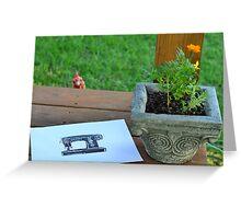 Peeking Hen Greeting Card