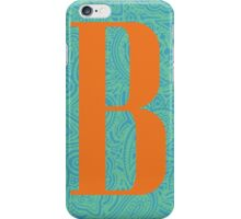 Paisley Print Letter 'B' iPhone Case/Skin