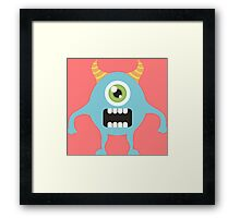 Cute one eyed monster Framed Print