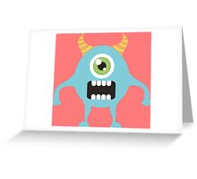 Cute one eyed monster Greeting Card