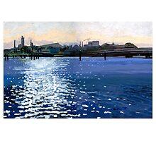 port river sparkles Photographic Print