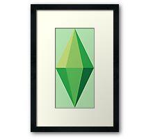 The Sims Plumbob Framed Print