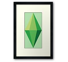 The Sims Plumbob Framed Print