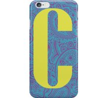 Paisley Print Letter 'C' iPhone Case/Skin