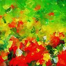 Abstract Floral Painting by A. TW